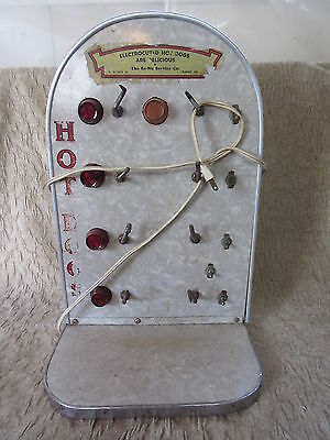 Old Retro Diner Restaurant Electrocuted Hot Dogs Counter Display Device