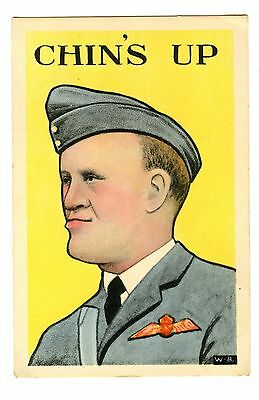 Old postcard post card Air Force Chin's Up comic military