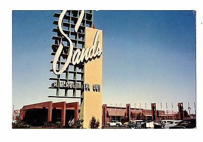 Old post card postcard Nevada   Las Vegas Sands Hotel