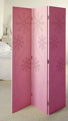Winther Browne RM10158 Kay Folding Screen Room Divider Pink Finish H170cm