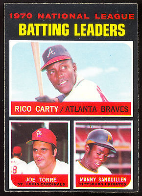 1971 Topps Opc O Pee Chee 62 Rico Carty Joe Torre Manny Sanguillen Nm Nl Leadres