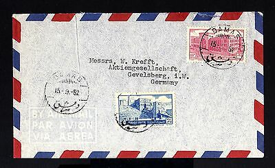 2695-SYRIA-AIRMAIL COVER DAMAS to GEVELSBERG (germany) 1952.Aereo.