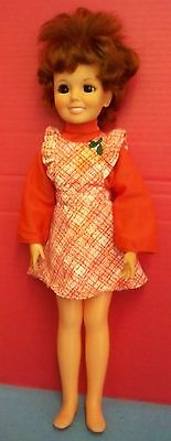 """Vintage 1968 Crissy Doll 18""""T Red Curly Growing Hair Original Dress Krissy Ideal"""