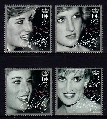 Gibraltar 2007 Tribute to Diana Set 4 MNH