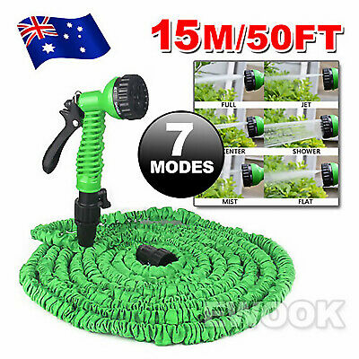 50Ft Stretch Expandable Garden Hose Magic Flexable Expanse Water Pocket Self