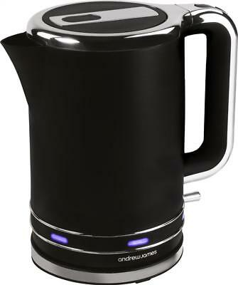 Andrew James Lumiglo Black Cordless Jug Kettle Electric Fast Boil 3000W 1.7L