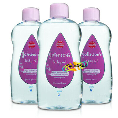 3x Johnsons Baby Massage Oil 500ml
