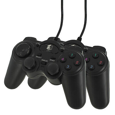 ZedLabz wired controller for Sony PS2 double shock analog joypad pad - 2 pack