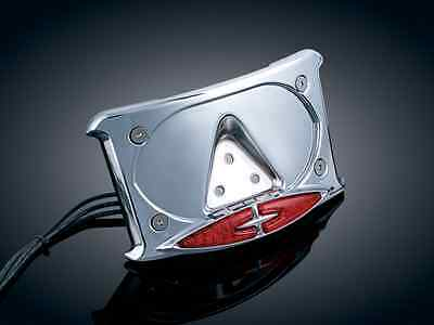 Kuryakyn Curved License Plate Frame w Dual Accent Lighting  3166