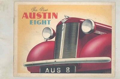 1939 Austin Eight Open Tourer Saloon Prestige Brochure wv0796
