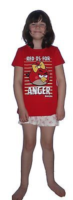 Girls Ex M&S Angry Birds Shortie Cotton Pyjamas NWOT