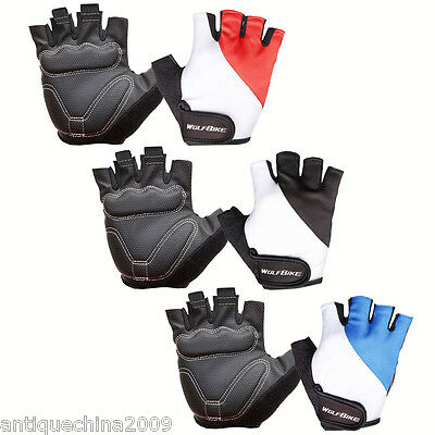 Cycling Gloves Bicycle Motorcycle Sport Breathable Gel Half Finger Gloves
