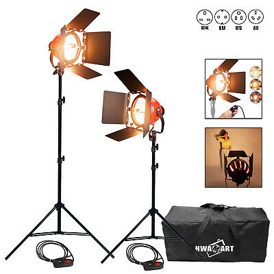 1600W Photo Video Studio Continuous Red Head Light 800w DIMMER built in 2 SETS