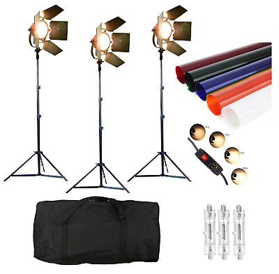 2400W Video Continuous Red Head Light 3 x 800w Video Lighting DIMMER built in