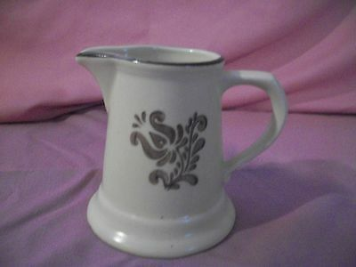 PFALTZGRAFF VINTAGE VILLAGE #24 CREAMER PITCHER BROWN DECOR & BAND RETIRED