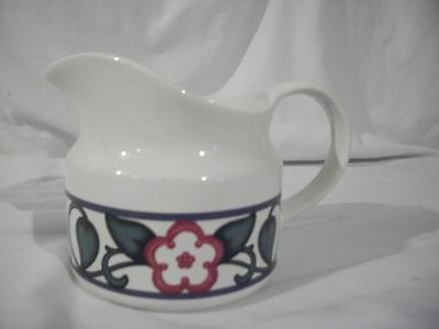 PFALTZGRAFF ARBOR VINE GRAVY BOAT LARGE CREAMER PTICHER GREEN LEAVES RED FLOWERS