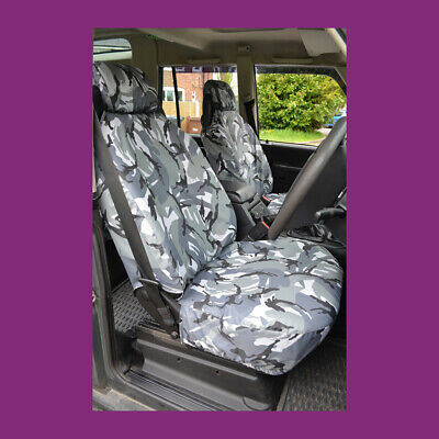 Land Rover Discovery Series 2 Front Grey Camo Waterproof Tailored Seat Covers