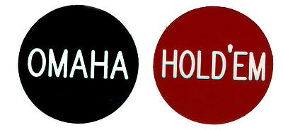 "OMAHA / HOLD'EM  2"" button for Omaha Hold'Em Tournaments Games FREE SHIPPING*"