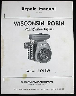 Wisconsin Robin EY44W Air Cooled Engine Repair Manual MM-345