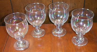 Set of Four Vintage Libbey Glass Tulip Style Beer Chalices