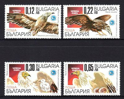 Bulgaria 2001 Vultures Set 4 MNH