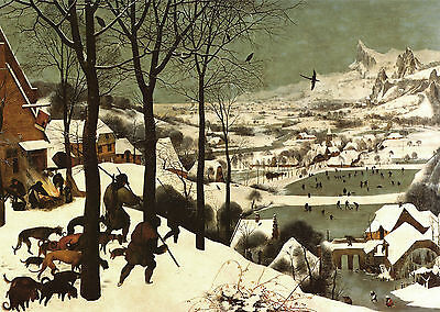 "Bruegel : Hunters In The Snow : Return Of The Hunters 24"" Canvas Fine Art Print"