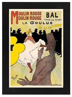 VINTAGE BAL au MOULIN ROUGE FRENCH ADVERTISING A2 POSTER PRINT
