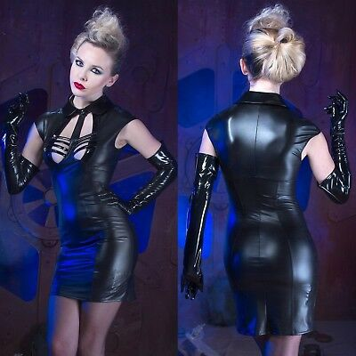 PATRICE CATANZARO Patty Robe Wetlook Lack Kleid Leather Dress GOTHIC CLUBWEAR