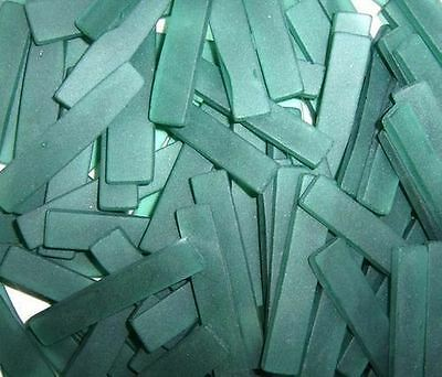 "40 2"" Frosted Aqua Green Border Tumbled Stained Glass Mosaic Tiles Tile"