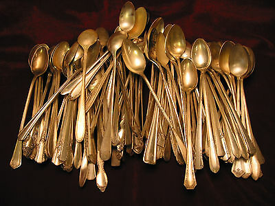 Silverplate Iced Tea Spoon Mixed Lot of 100 Craft Grade Vintage Flatware