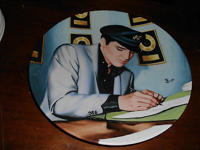 """Elvis Presley """" Looking At A Legend"""" Collector Plate Plate No.15254 A"""