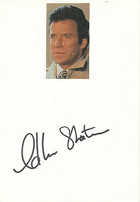 William Shatner  Star Trek    Karte mit Unterschrift - 223403