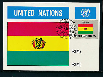 United Nations, Bolivien, Flaggen-Karte, Flags   12/5/15