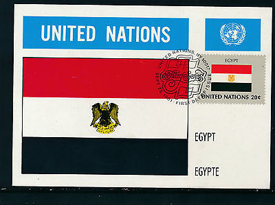 United Nations, Ägypten, Flaggen-Karte, Flags   12/5/15
