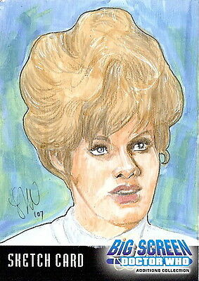 Dr Doctor Who Big Screen Additions Sketch Card by Leah Mangue /1