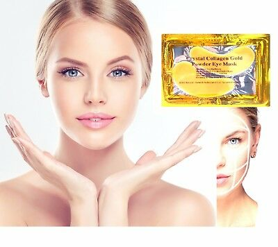 GOLD Collagen Eye Mask Crystal Anti-Wrinkle Anti-Ageing Under Gel Patch Facial