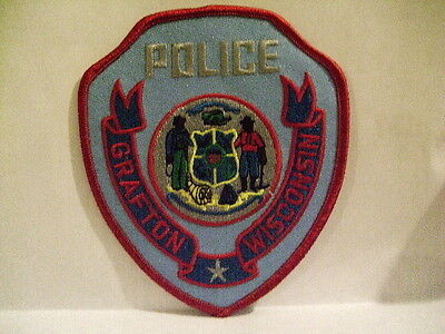 police patch  GRAFTON  POLICE WISCONSIN