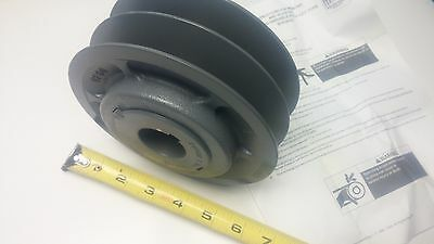 """NEW 2VP60X13/8 2-Groove Variable Pitch Pulley Sheave 3/8-5/8 V-Belt 1-3/8"""" ID F2"""
