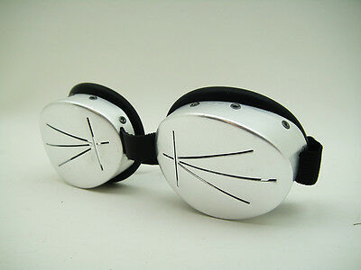 NOS ALLUMINIUM SNOW Arctic SKI GOGGLES Space Age RETRO VINTAGE Alpine Expedition