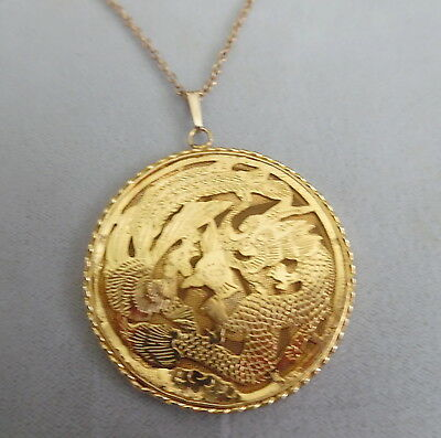 Gold Filled Dragon Design Beautiful Pendant