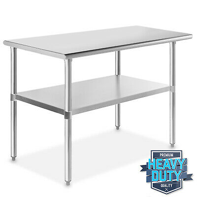 "Stainless Steel Commercial Kitchen Work Food Prep Table - 24"" x 48"""