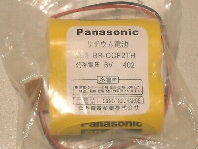 Brand New Panasonic BR-CCF2TH BR-C PLC 6V 5000mAh Lithium Battery w/ Wire