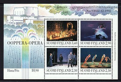 Finland 1993 New National Opera House Sheetlet 4 MNH