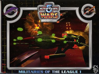 Babylon 5 Wars 2nd Ed Militaries of the League 1 Book SC MINT Agents of Gaming