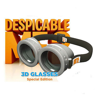 New Minions Goggles Circular 3D Glasses Virtual Reality For TV Game Movie