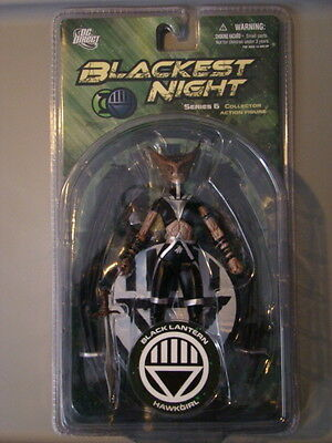 DC DIRECT GREEN LANTERN: BLACKEST NIGHT: SERIES 6: BLACK LANTERN HAWKGIRL Figure