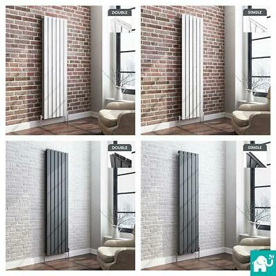 Vertical Flat Panel Column Designer Bathroom Radiators White Anthracite Chrome