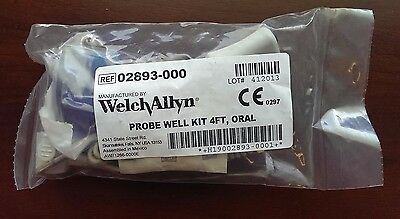 Welch Allyn SureTemp Plus Temperature Probe & Well Assembly 4ft 02893-000 NEW