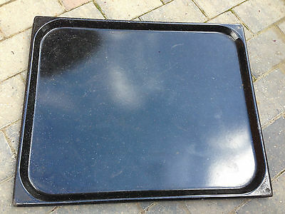 Very Large 65cm x 53cm Ex British Army Enameled Steel Oven Tray USED