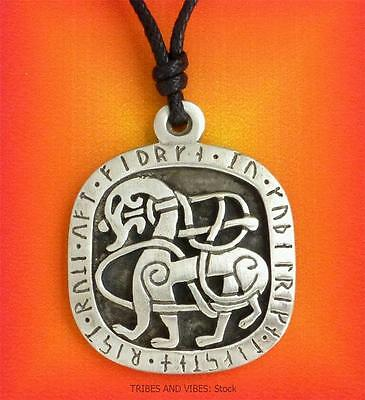 Viking Horse Runes Pendant Necklace pagan Odin sleipnir pewter Jewellery NEW
